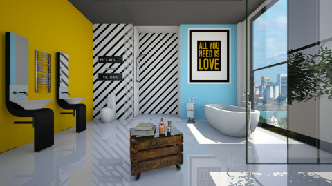 Cores Vibrantes - Bathroom  - by Sanare Sousa