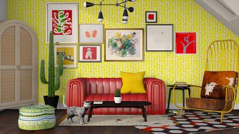 Maximalist - Living room - by seth96