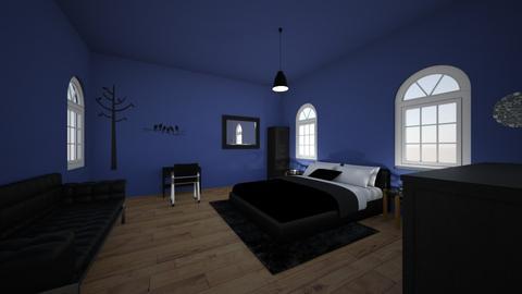 black blue - Bedroom  - by XenaChico