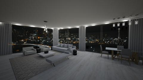 160 Leroy St Unit N8B - Modern - Living room  - by sfurkan