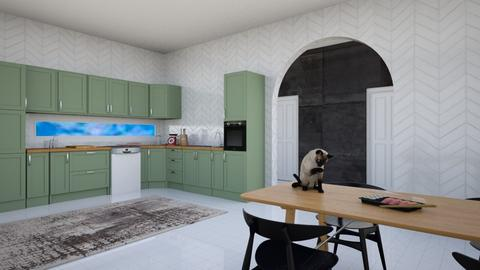 Kitten - Modern - Kitchen  - by designcat31