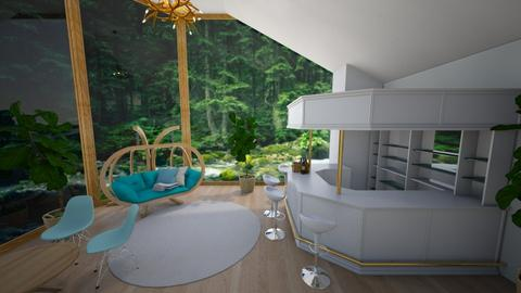 wood river room - Living room  - by Shan da farm freak