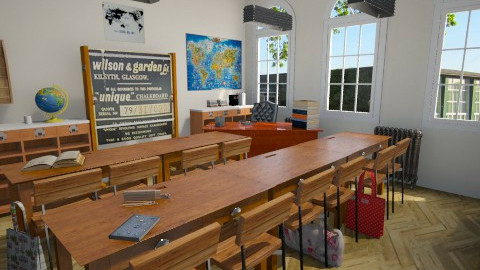 global learning room - Classic - by donella