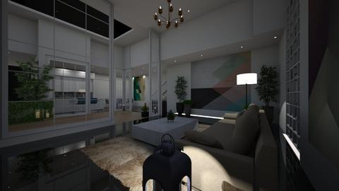 Geometric_night - Living room  - by nanabpf