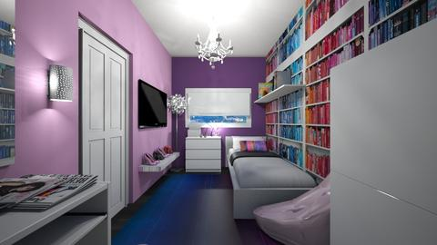 Teen Girls Bedroom - Glamour - Bedroom  - by roomstylerdotemma