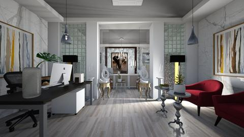 Office_Reception_Interiors - Modern - Office  - by Nikos Tsokos