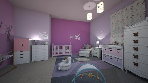 purple palace - Kids room - by crystalg98