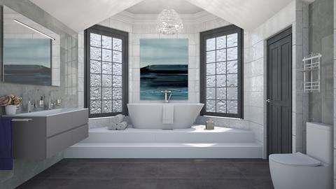 Attic Bathroom_ - Modern - Bathroom  - by lovedsign