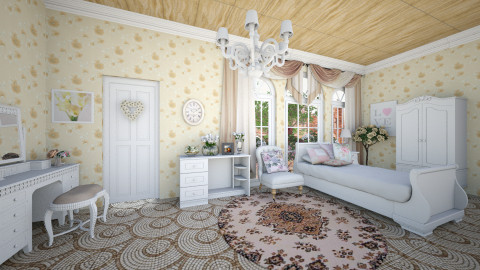 Floral  - Glamour - Bedroom  - by Palita Eamin