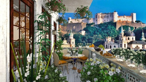 Salzburg SB - Garden  - by lydiaenderlebell