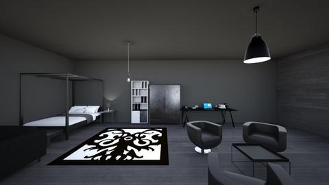 Black and white - Modern - Bedroom  - by Agamanta