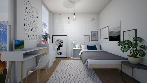 White - Minimal - Bedroom - by SpookyjimKilljoy