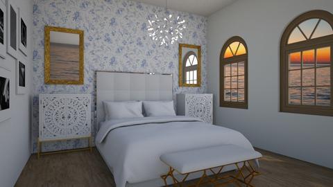 Blue flower serenity - Rustic - Bedroom  - by DesL