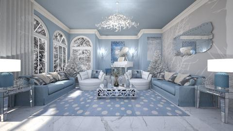 A Pale Blue Christmas - Classic - Living room  - by RS Designs