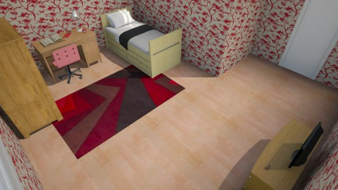 Red room - Vintage - Kids room - by Sara Bel