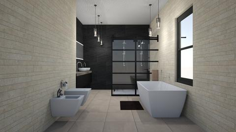 Tan colonial Grand BR - Modern - Bathroom  - by rcrites457
