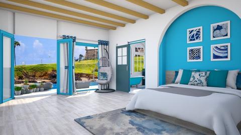 Charmolipi Greek Bedroom - Bedroom  - by lyrikkah