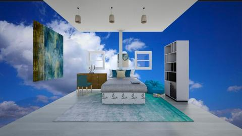 beach house bed room - Bedroom  - by XenaChico