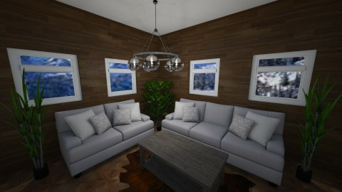 Hunting Lodge - Rustic - Living room  - by millerfam