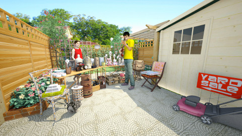 yard sale - Eclectic - Garden  - by donella