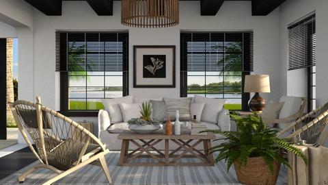 633 - Rustic - Living room  - by Claudia Correia
