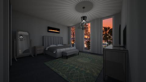Gray Bedroom - Bedroom - by neverlanddesigns