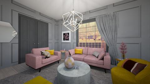 Yellow pink - Living room - by Esko123