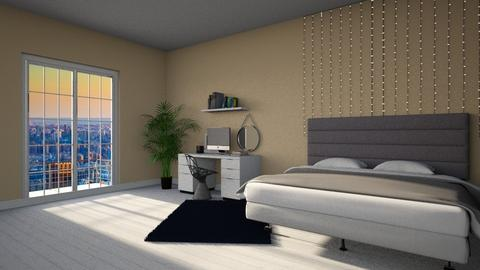 Studious - Minimal - Bedroom  - by marshii