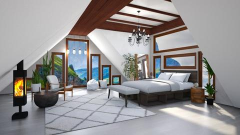 Attic Guestroom Ready - Bedroom  - by Amyz625
