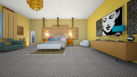 serena van der woodsen rm - Glamour - Bedroom  - by fashiondesigner7