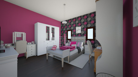 dream room - Glamour - Bedroom  - by milenamoreira28