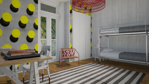 Yellow Polka Dots - Modern - Bedroom  - by Maria Esteves de Oliveira