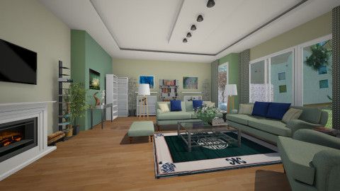 green - Living room - by alexdj