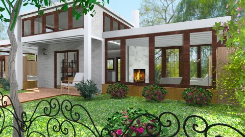 House - Modern - Garden  - by Bibiche