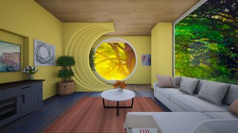minimalist living room I - Minimal - Living room  - by quesal0l2347