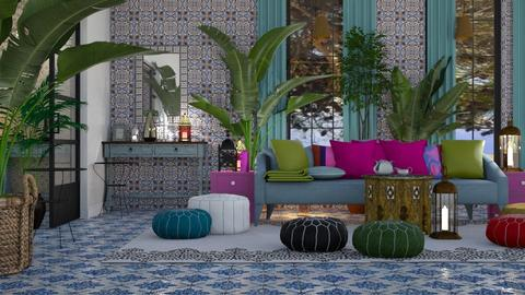 moroccan style - Living room  - by SZUCSBETTI
