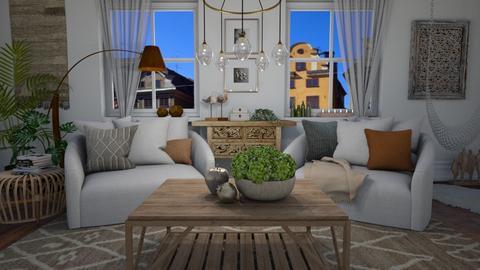 Boho again - Living room  - by Tuija