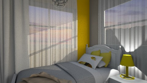 croatia bedroom yellow - Minimal - Bedroom  - by leona11