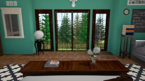 forest in bedroom - Vintage - Bedroom  - by sazava