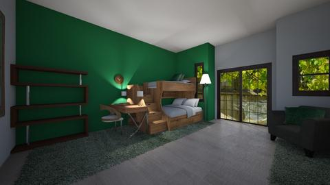 forest siblings bedroom - Country - Bedroom  - by crazyA