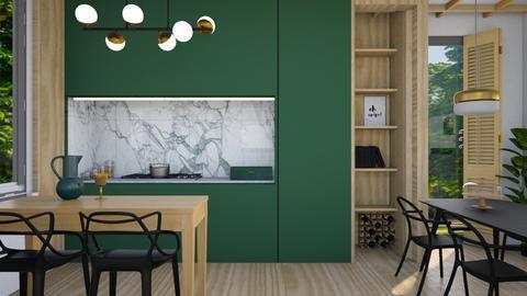 Green kitchen - by Esko123
