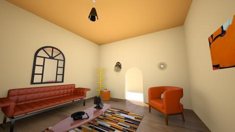 Living in Orange Room - Living room  - by Karen Sheets