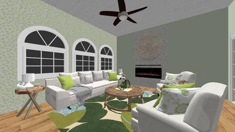 Green Playful Living room - Living room - by Whitney VanManen