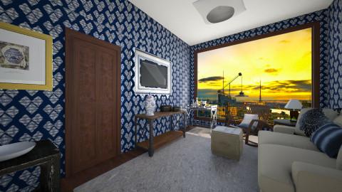 Blue Loves You - Living room - by Kristi McDaniel