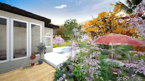 garden_and_pool2 - Garden - by Lucy Miranda