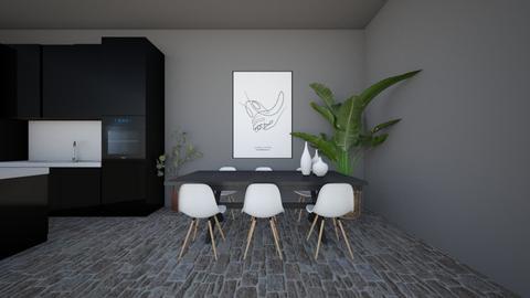 black_dinning - Modern - Kitchen  - by Marlisa Jansen
