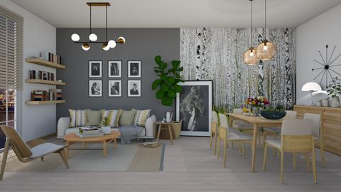 Oaky Divided   - Modern - Living room  - by janip