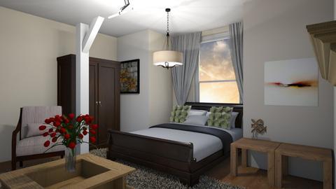 rustic bedroom - Bedroom  - by jalainastyles