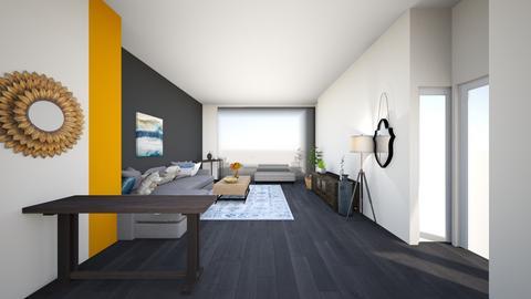 livingroom greysectional3 - Living room  - by lilsrox05