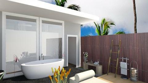 Villa Outdoor Bathroom - Modern - Bathroom  - by ayudewi